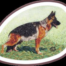 mosaico pastore tedesco
