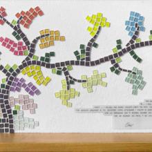Mosaico quadro albero della vita