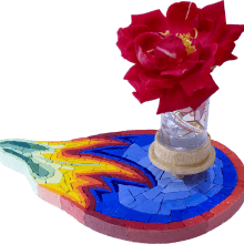 mosaico porta fiori Melb