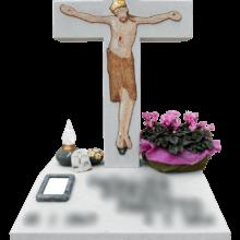 Croce in mosaico per lapide