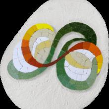 mosaico lettera A