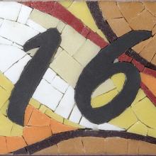 mosaico numero civico 16