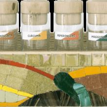 mosaico porta spezie