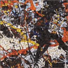 mosaico ispirato a Pollock